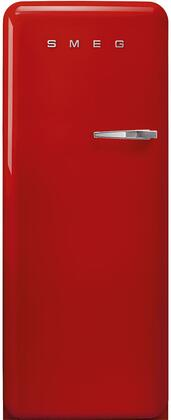FAB28ULRD3 24″ 50's Retro Style Refrigerator with 9.92 cu. ft. Total Capacity  LED Lighting  Adjustable Glass Shelves and Automatic Defrost  Left