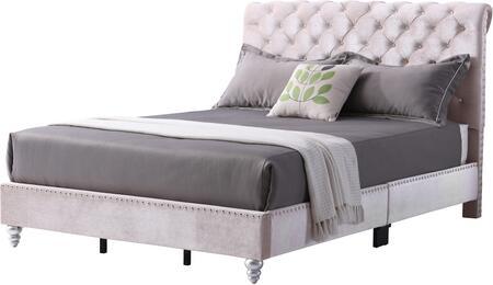 Glory Furniture Fabiane G1939XBUP Bed Beige, 1