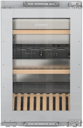 Liebherr HW3000 24 Inch Built-In Dual Zone Wine Cooler with 30 Bottle Capacity, in Panel Ready