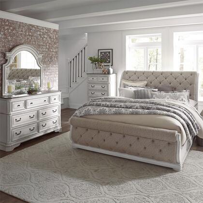 Liberty Furniture Magnolia Manor 244BRKUSLDMC Bedroom Set White, 244 br qusldmc