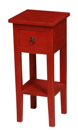 Sunset Trading Shabby Chic Cottage CCTAB1792LDAR Accent Table Red, CC TAB1792LD AR