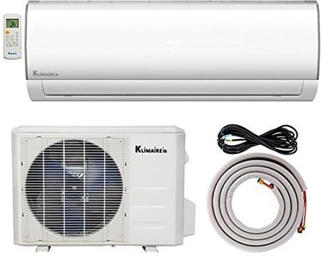 Klimaire KSIF018-H215-S 18,000 BTU 15.5 SEER Ductless Mini-Split Inverter Air Conditioning Heat Pump System with 15 FT. Installation Kit (230 Volt), BTU-230 V