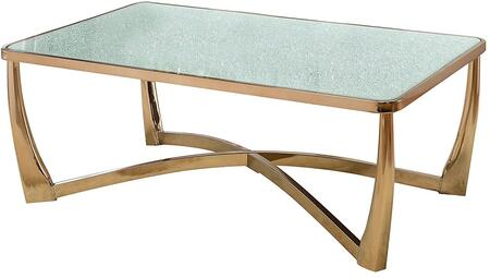 Acme Furniture Orlando 80340 Coffee and Cocktail Table Gold, 1