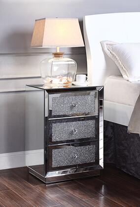 Acme Furniture Rekha 97580 Nightstand Silver, 97580
