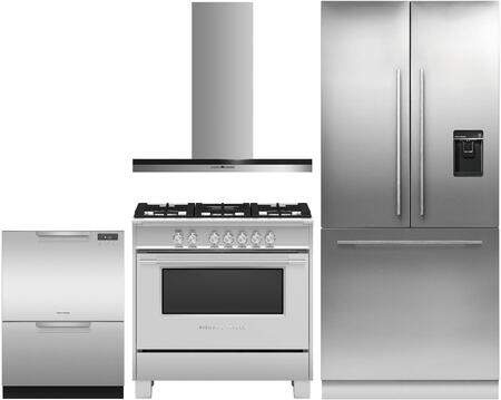 Fisher Paykel  1079557 Kitchen Appliance Package Stainless Steel, main image