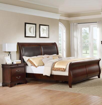 Myco Furniture Louisville Collection Lp400kn 2 Piece Bedroom Set