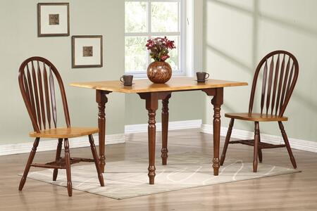 Sunset Trading Sunset Selections DLUTLD3448820NLO3PC Dining Room Set Brown, Main Image