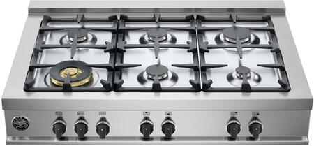 Bertazzoni Master CB36M600XLP Gas Cooktop Stainless Steel, Main Image