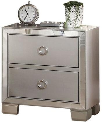 Acme Furniture Voeville II 24843 Nightstand Silver, Angled View