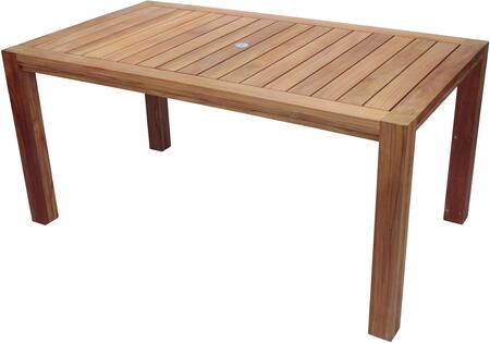 Royal Teak Collection Comfort COMF63 Outdoor Patio Table Brown, COMF63 Main Image