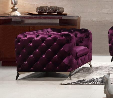 J and M Furniture Glitz 183352CP Living Room Chair Purple, Main Image