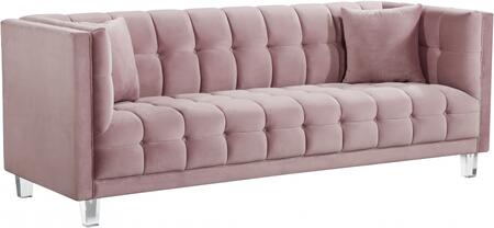 Meridian Mariel 629PINKS Stationary Sofa Pink, Main Image