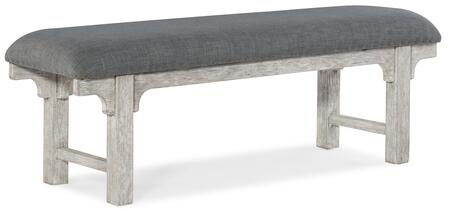 Hooker Furniture Beaumont 57519001995 Bench Gray, Silo Image