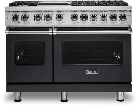 Viking Professional 5 VDR5486GGG Freestanding Dual Fuel Range Slate, Front View