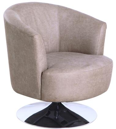 Tustin Leisure Collection TUSTIN212050 Accent Chair with 360 Degree Swivel  Wing Arms  Memory Foam Seating  All Steel Construction and Quality Fabric