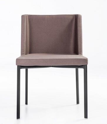 Easy Collection 100-BT-06-BM-B-LBF Chair with Black 4-Leg Base-Light
