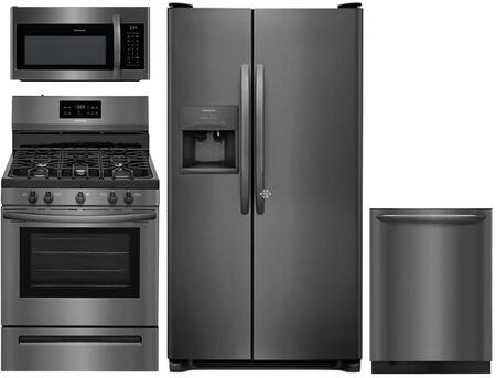 Frigidaire 958046 Kitchen Appliance Package & Bundle Black Stainless Steel, Main image