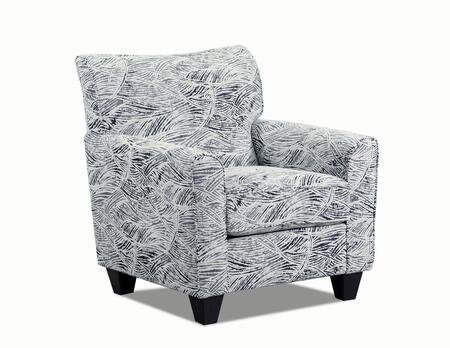 Chadwick Collection 158-012BAZAARONYX Accent Chair with Removable Seat Cushion  Sinuous Wire Spring Support System  Made in USA  Hardwood Lumbar