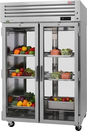 PRO-50R-GS-PT-N 52″ Pro Series Glass and Solid Door Pass-Thru Refrigerator with 48.7 cu. ft. Capacity  Self-Cleaning Condenser  Digital Temperature