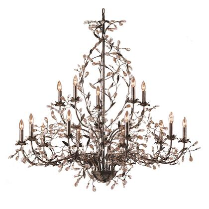 8056/10+5 Circeo 15-Light Chandelier with Branches in Deep