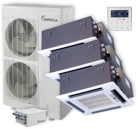 ISFC-6015X3 Flex Series Triple-Zone Mini Split System with 52 900 BTU Outdoor Unit  3x 14 400 BTU Ceiling Cassette Indoor Unit  3x Wired Controllers