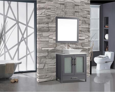 Jordan Collection MTD-1130G 30″ Single Sink Bathroom Vanity Set in