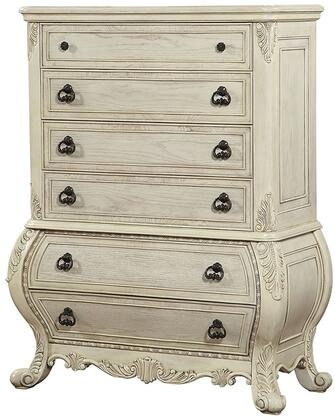 Acme Furniture Ragenardus 27016 Chest of Drawer White, Angled View