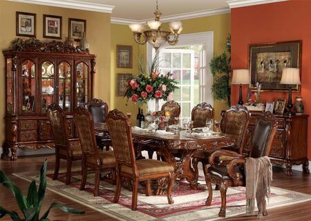 Acme Furniture Dresden 12150CBCS Dining Room Set Brown, 1