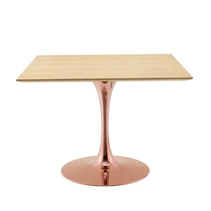 Modway Lippa EEI5268ROSNAT Dining Room Table Brown, EEI 5268 ROS NAT 1