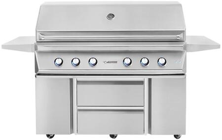54″ Freestanding Natural Gas Grill with Cart  4 Main Burners  100000 Total BTU  1000 sq. in. Cooking Surface  High-Quality Ceramic Briquettes