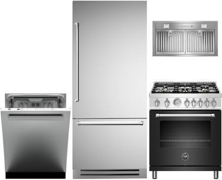 Bertazzoni  1000171 Kitchen Appliance Package Stainless Steel, main image