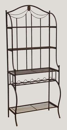 Hillsdale Furniture Camelot 41417 Bakers Rack Black, 1