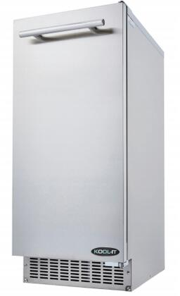 KRU-70-AB 15″ Undercounter Ice Maker with 69 lbs. Daily Ice Production  26 lbs. Ice Storage and Urethane Insulation in Stainless