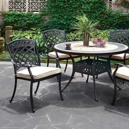 Furniture of America Charissa CMOT2125RT Outdoor Patio Table , cm ot2125 rt