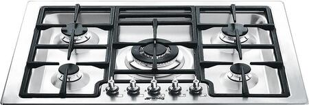 Smeg Classic Design PGFU30X Gas Cooktop Stainless Steel, Main Image