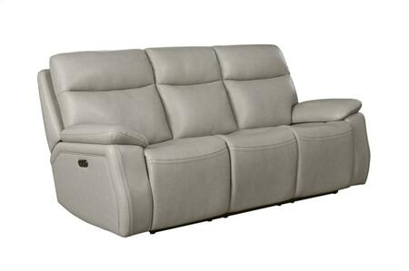 Micah Collection 39PH3628370881 89″ Power Reclining Sofa with Power Head Rests and Leather Match Upholstery in  Venzia