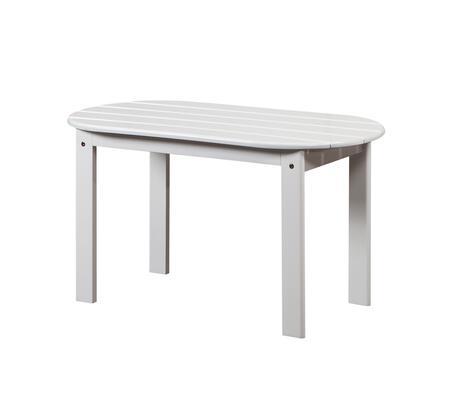 Linon 20154WHT01KDU Outdoor Patio Table, 20154WHT 01 KD U%20Adirondack%20White%20Coffee%20Table