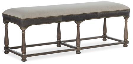 Hooker Furniture Woodlands 58209001984 Bench Beige, Silo Image