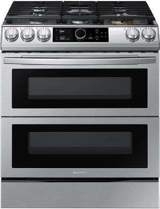 Samsung  NY63T8751SS Slide-In Dual Fuel Range Stainless Steel, Main Image
