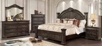 Furniture of America Genevieve CM7428CKBEDNSCHDRMR Bedroom Set Brown, CM7428CK-BED-NSCHDRMR