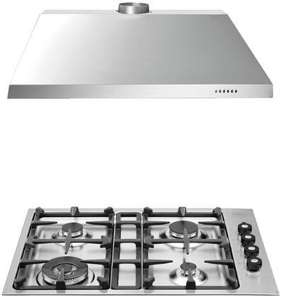 Bertazzoni  708270 Kitchen Appliance Package Stainless Steel, Kitchen Package