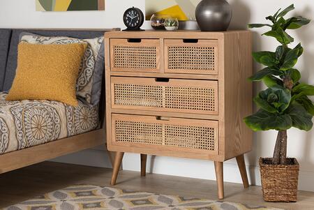 Wholesale Interiors Alina JY1902MEDIUMOAK4DWCHEST Chest of Drawer Brown, 10553 7