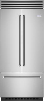 BlueStar BBBF361 French Door Refrigerator Stainless Steel, Main Image