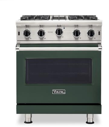 Viking 5 Series VGIC53024BBFLP Freestanding Gas Range Green, VGIC53024BBFLP Gas Range