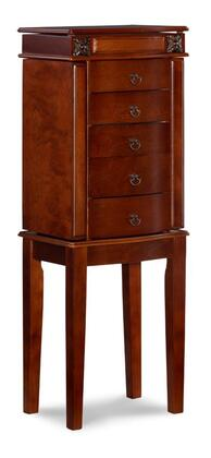 Linon Olivia 995641CHY Jewelry Armoire Brown, 995641CHY 1