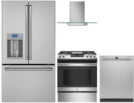 Cafe  1067725 Kitchen Appliance Package Stainless Steel, main image
