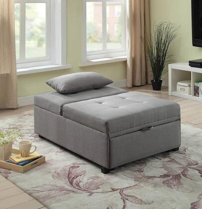Furniture of America Oona CM2543GY Sofa Bed Gray, Main Image