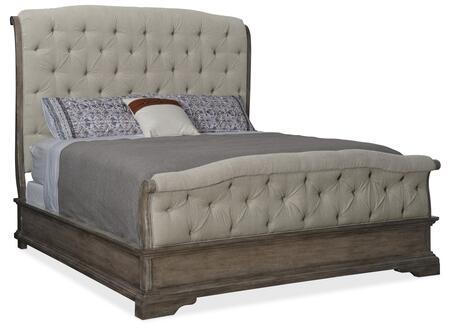 Hooker Furniture Woodlands 58209085084 Bed Beige, Silo Image