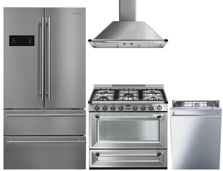 Smeg  974149 Kitchen Appliance Package Stainless Steel, Main Image