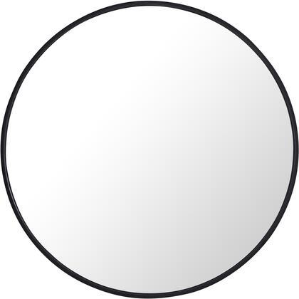 MR4034BK Metal Frame Round Mirror 28″ Black